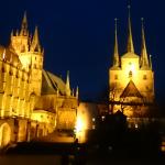 Das Bild sollte den Erfurter Dom bei Nacht zeigen