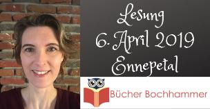 Ankündigung Lesung mit Alizée Korte in Ennepetal am 6. April 2019