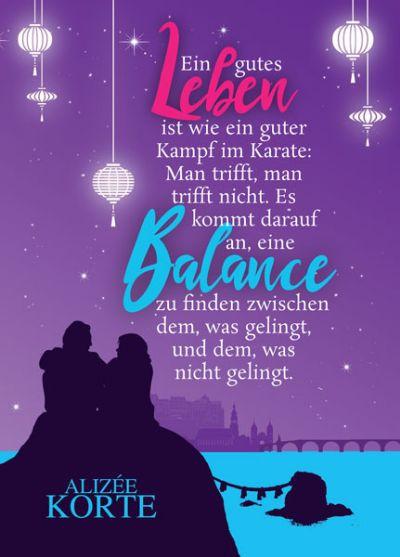 """Postkarte mit Zitat aus """"Dein Weg, meine Liebe"""""""